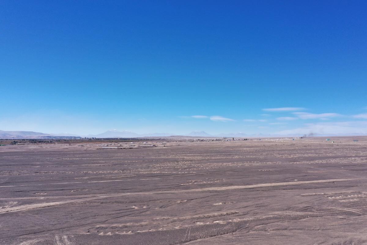 チリの砂漠で空撮6